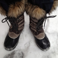 Snow.  Time for my Sorel Boots.