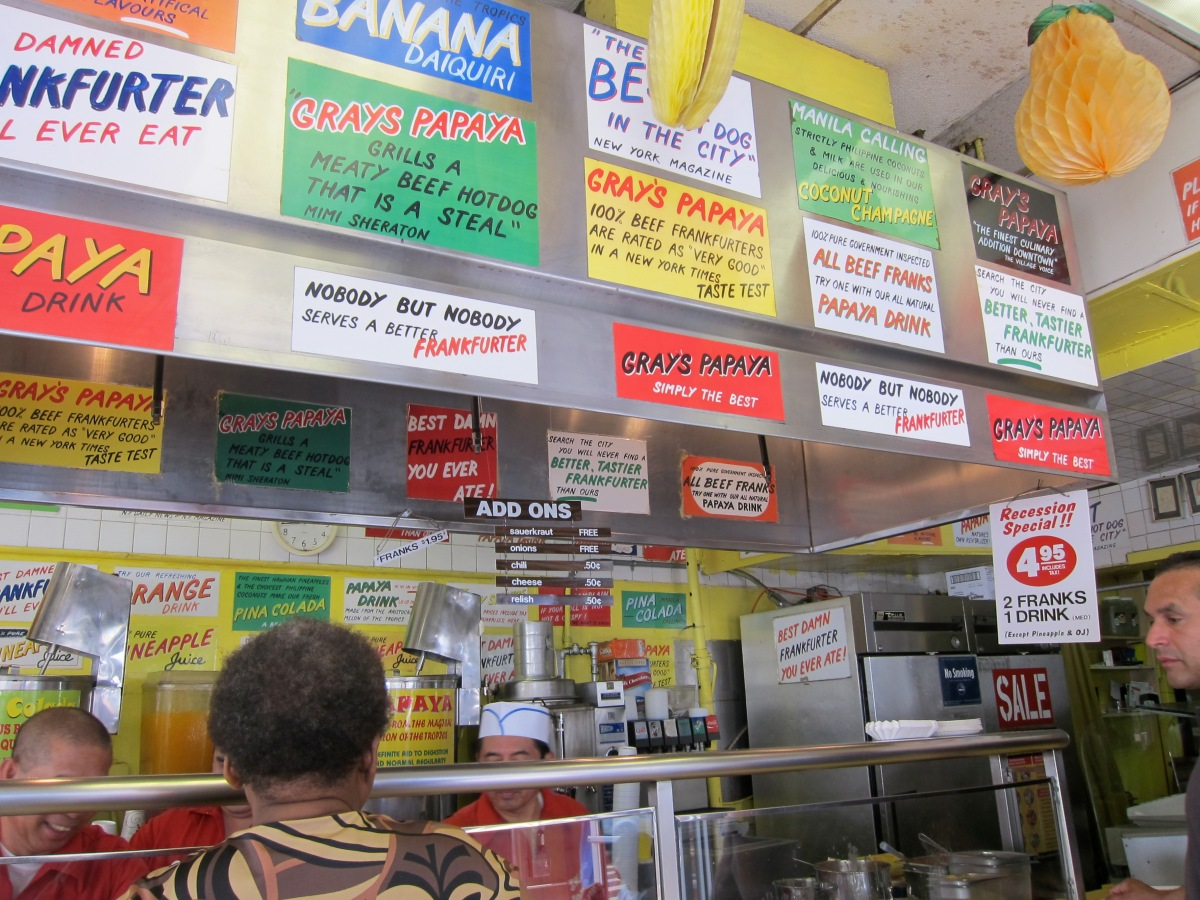 NYC Hot Dogs:  Dirty Water and Gray's Papaya